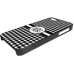 Houndstooth Plastic iPhone 5/5S Phone Case (Personalized)
