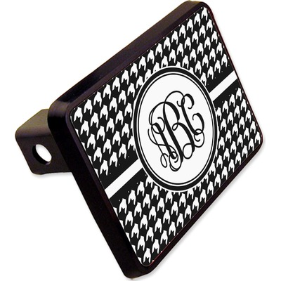 """Houndstooth Rectangular Trailer Hitch Cover - 2"""" (Personalized)"""