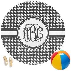 Houndstooth Round Beach Towel (Personalized)