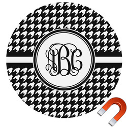 Houndstooth Round Car Magnet (Personalized)