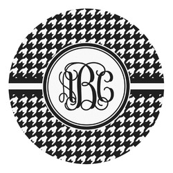 Houndstooth Round Decal - Custom Size (Personalized)