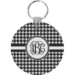 Houndstooth Round Keychain (Personalized)