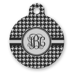 Houndstooth Round Pet Tag (Personalized)