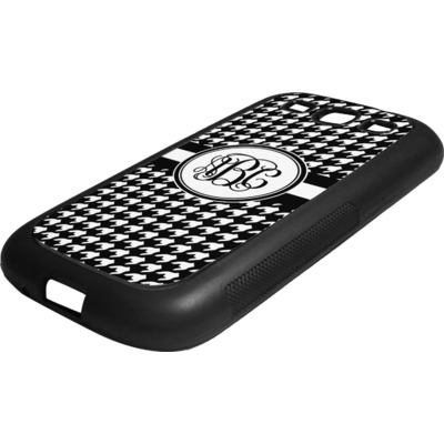 Houndstooth Rubber Samsung Galaxy 3 Phone Case (Personalized)