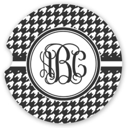 Houndstooth Sandstone Car Coasters (Personalized)