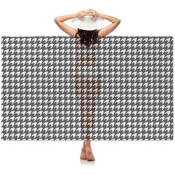 Houndstooth Sheer Sarong (Personalized)