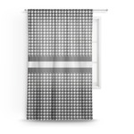 Houndstooth Sheer Curtains (Personalized)