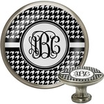 Houndstooth Cabinet Knob (Silver) (Personalized)