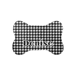 Houndstooth Bone Shaped Dog Food Mat (Small) (Personalized)