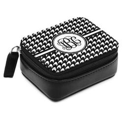 Houndstooth Small Leatherette Travel Pill Case (Personalized)