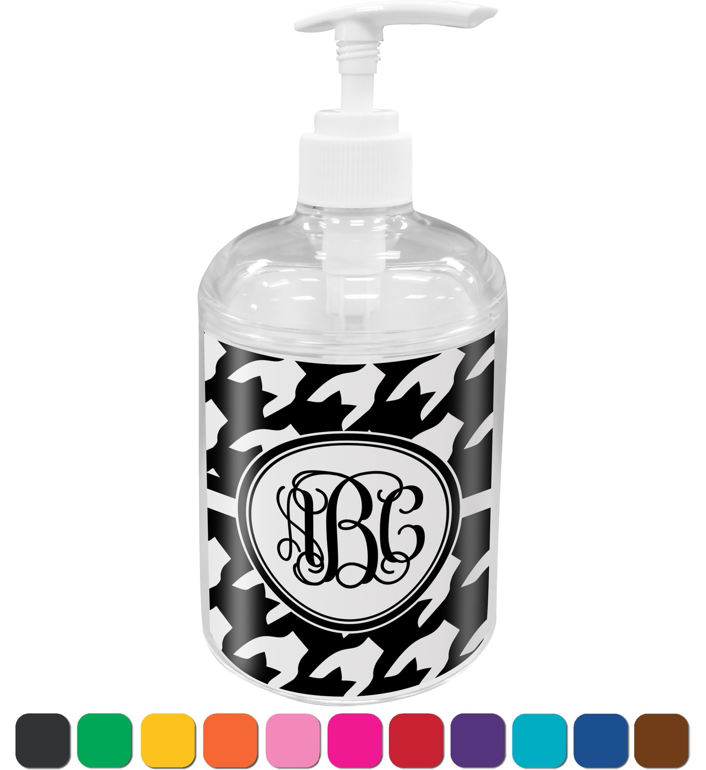 Houndstooth Soap / Lotion Dispenser (Personalized) - YouCustomizeIt