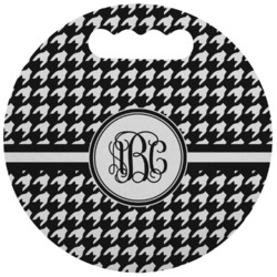 Houndstooth Stadium Cushion (Round) (Personalized)