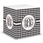 Houndstooth Sticky Note Cube (Personalized)