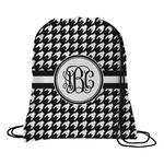 Houndstooth Drawstring Backpack (Personalized)