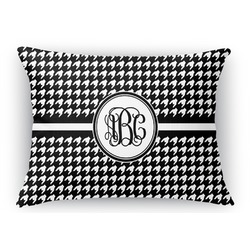 Houndstooth Rectangular Throw Pillow Case (Personalized)
