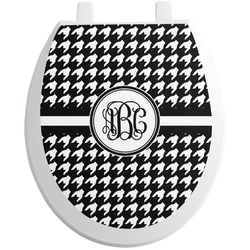 Houndstooth Toilet Seat Decal (Personalized)