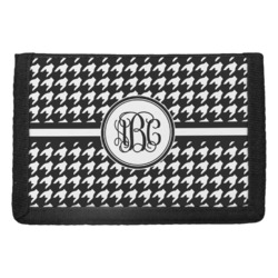 Houndstooth Trifold Wallet (Personalized)