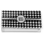 Houndstooth Vinyl Checkbook Cover (Personalized)