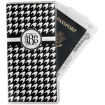 Houndstooth Travel Document Holder