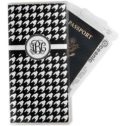 Houndstooth Travel Document Holder