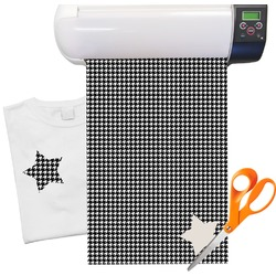 "Houndstooth Heat Transfer Vinyl Sheet (12""x18"")"