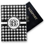 Houndstooth Vinyl Passport Holder (Personalized)