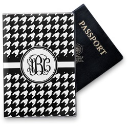 Houndstooth Vinyl Passport Holder (Personalized)