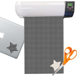 Houndstooth Sticker Vinyl Sheet (Permanent)