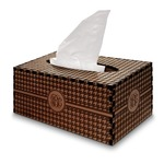 Houndstooth Wooden Tissue Box Cover - Rectangle (Personalized)