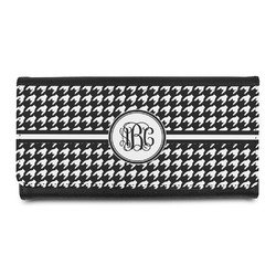 Houndstooth Leatherette Ladies Wallet (Personalized)