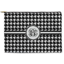 Houndstooth Zipper Pouch (Personalized)