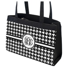 Houndstooth Zippered Everyday Tote (Personalized)