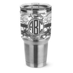 Camo Stainless Steel Tumbler - 30 oz (Personalized)