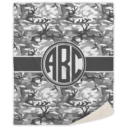 Camo Sherpa Throw Blanket (Personalized)