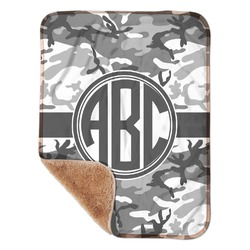 "Camo Sherpa Baby Blanket 30"" x 40"" (Personalized)"