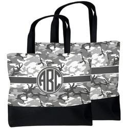 Camo Beach Tote Bag (Personalized)