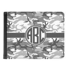Camo Genuine Leather Men's Bi-fold Wallet (Personalized)
