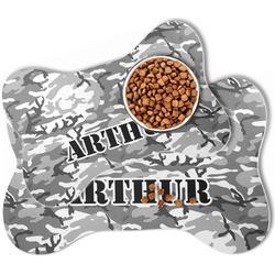 Camo Bone Shaped Dog Food Mat (Personalized)