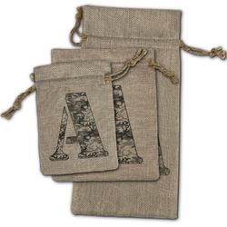 Camo Burlap Gift Bags (Personalized)
