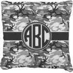 Camo Faux-Linen Throw Pillow (Personalized)