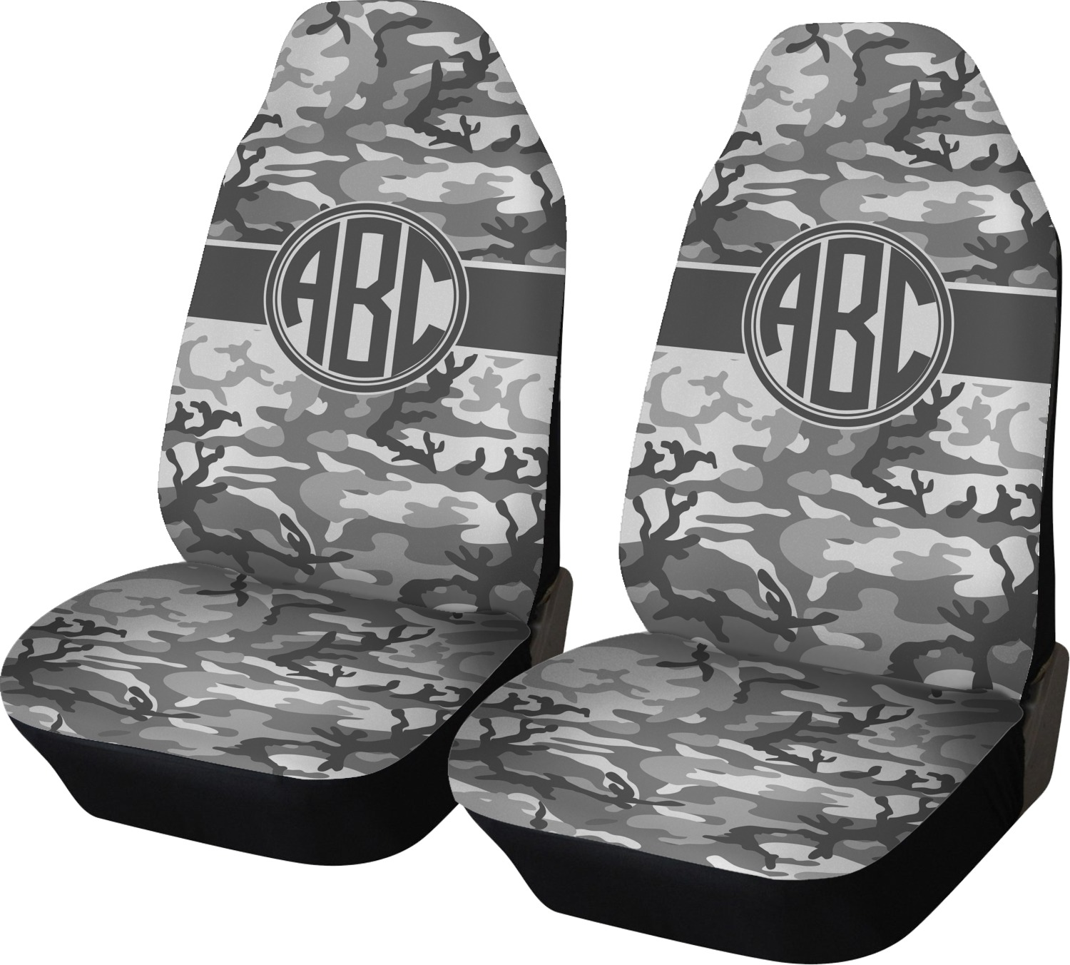 Camo Car Seat Covers Set Of Two Personalized