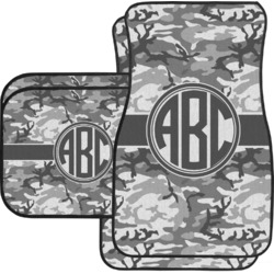 Camo Car Floor Mats Set - 2 Front & 2 Back (Personalized)