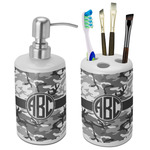 Camo Bathroom Accessories Set (Ceramic) (Personalized)