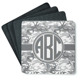 Camo 4 Square Coasters - Rubber Backed (Personalized)