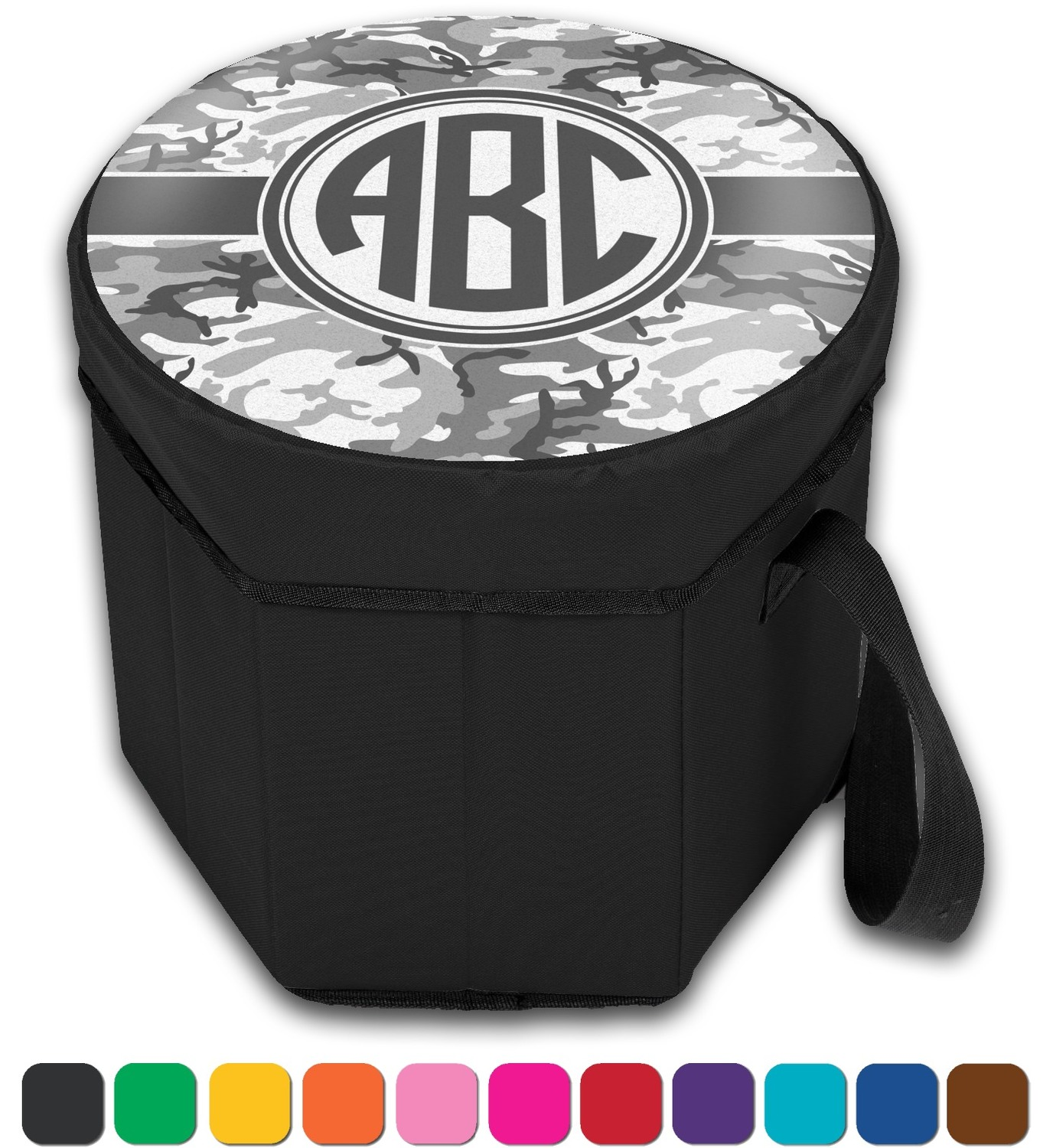 Camo Collapsible Cooler Amp Seat Personalized Youcustomizeit