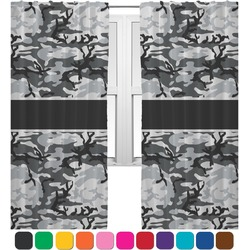 Camo Curtains (2 Panels Per Set) (Personalized)