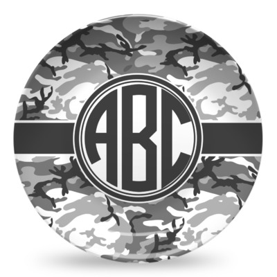 Camo Microwave Safe Plastic Plate - Composite Polymer (Personalized)