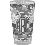 Camo Drinking / Pint Glass (Personalized)