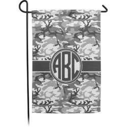 Camo Single Sided Garden Flag With Pole (Personalized)