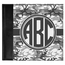 Camo Genuine Leather Baby Memory Book (Personalized)